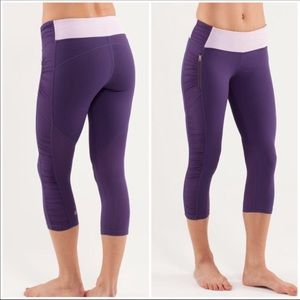 Lululemon run in the sun crop purple legging 6